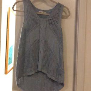 Cabi Blue knit sleeveless sweater. Small
